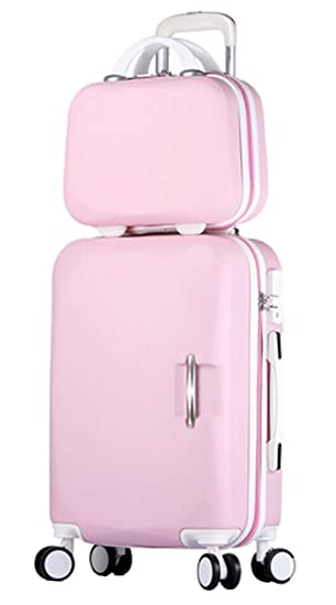 dcd16c964703 Song Luggage Spinner Luggage ABS Trolley Travel Lightweight Hardshell  Suitcase - 22 Inch Pink Set