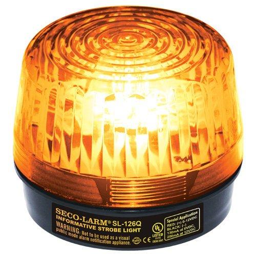 Seco-Larm SL-126-A24 Amber Emergency Strboe Light for General Signaling, 24VDC