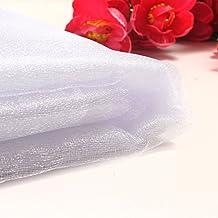 10m x 75cm Sheer Organza Gauze Curtain Roll GOT Shop Fabric Wedding Chair Sash Table Swags Decor (White)