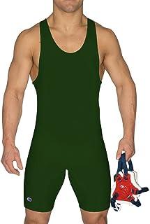 Cliff Keen Impitoyable Wrestling Singlet Vert foncé L7943j