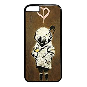 iCustomonline Graffiti Cute Kid Black Plastic Hard Back Shell for iPhone 6( 4.7 inch)