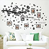Walplus Wall Stickers Ohana Family Tree Wall Art Murals Removable Self-Adhesive Decals Nursery Kindergarden Kids Room Restaurant Cafe Hotel Office Home Decoration, multicolour