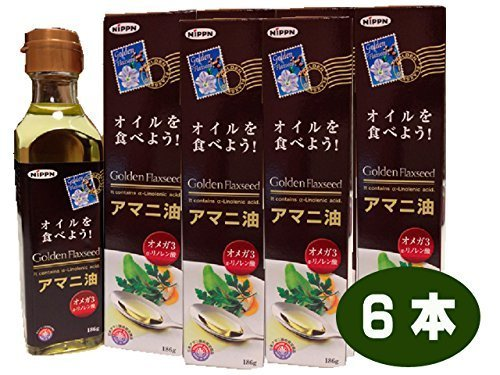 Nippon Flour Mills golden Flaxseed linseed oil 186g (# 570431) ~ 6 pieces set