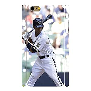 Charm Sports Series Designer Print Baseball Player Print Phone Shell Skin for Iphone 6 Plus Case - 5.5 Inch by lolosakes