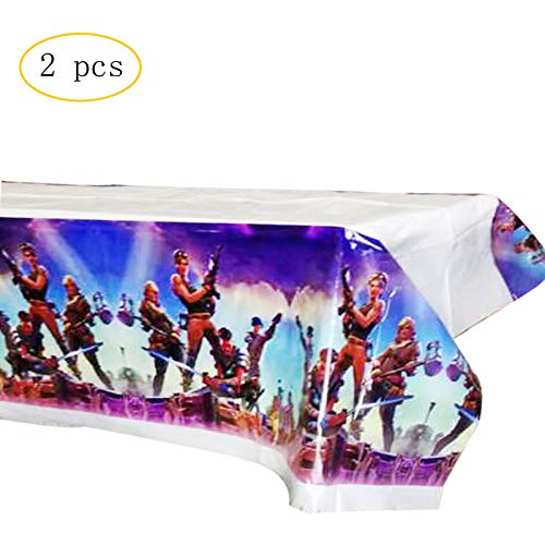 Game Party Tablecover Tablecloth Kids Party Tablecover Game Party Supplies, Set of 2, High Quality Plastic Tablecover for Kids Birthday Party (A-2PC)