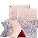 iPad Air 2 Case, Itrendz [Cute Smart Case] Gradual Changing Gliter PU Leather Flip Case [Card Slot Case] [Magnetic Closure] Stand Smart Cover [Auto Sleep Wake] For iPad Air 2 / iPad 6th Generation