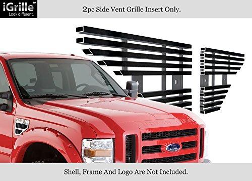 Fits 2008-2010 Ford F250/F350/F450/F550 Black Side Vent Grille Grill Insert #F65542J