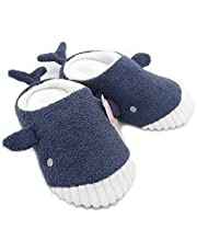 Millffy Cute Whale Plush Slippers Japanese Girl Plush Shark Soft Bottom Indoor Home Flat Floor Shoes