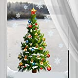 Christmas tree sticker Xamstree01 festival wall decals snowflake removable stickers 3d wall
