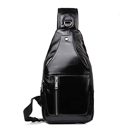 a85f7570f8e3 Amazon.com: Balalafairy-che Sling Crossbody Bag for Men Mens Leather ...