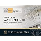 Saunders Waterford : High White Waterford Paper Block 9x12in Rough