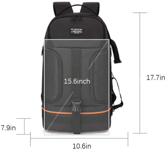 Color : Green Camera Backpack Bag for DSLR and Mirrorless Cameras Water Repellent Shockproof Backpack with 15.6 inch Laptop Compartment