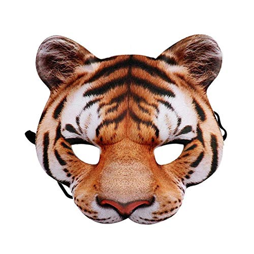 PKRISD Halloween 3D Tiger White Tigers Mask Party Cosplay Masks Horror Tigers Masque Halloween Party Decoration ()
