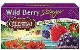 Celestial Seasonings Herbal Tea, Wild Berry Zinger, 20 Count (Pack of 6)