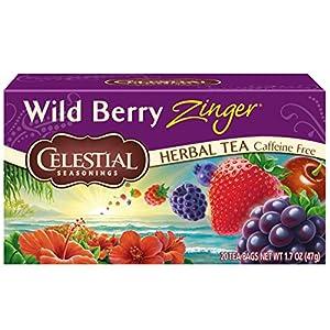 Celestial Seasonings Herbal Tea, Wild Berry Zinger, 20 Count per box, Pack of 6 4