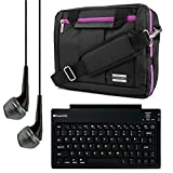 El Prado Collection 3 in 1 Backpack and Messenger Bag for Vulcan Venture 11.6'' Notebook + Bluetooth Keyboard + Headphones (Purple)