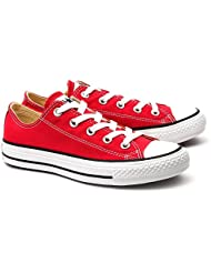 Converse Unisex Chuck Taylor All Star Ox Basketball Shoe (4.5 D(M) US Men / 6.5 B(M) US Women, Red)