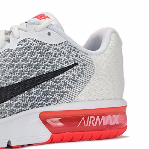 Sequent Nike Air Shoes White Crimson Max Black Running Men's 2 Bright 7w7f4qrEF