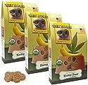 Wet Noses Organic USA Made All Natural Dog Treats, Hemp Seed & Banana, 3 pack