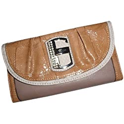 Guess Women's Wallet Famita Signature Logo Taupe