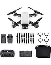 DJI - Spark Fly More Combo (Version UE) - Sommet Blanc | Incl. 1 Drone Quadricoptère, 1 Batterie de Vol Intelligente, 1 Radiocommande, 1 Chargeur Voiture & Autres | Photos & Vidéos en Haute Résolution