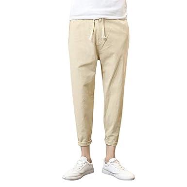 YiYLuuneo Pantalones De CháNdal De Hombre 2019 Sueltos De Color ...