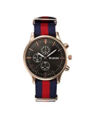 DaySeventh Mens Luxury Fashion Canvas Analog Watch Wrist Watches