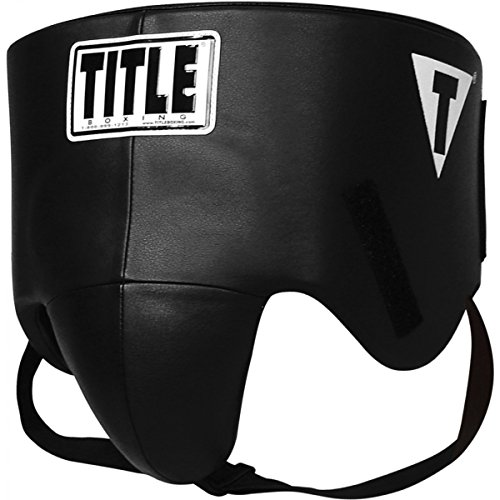 TITLE Boxing Hook-and-Loop Pro Style No-Foul Protector, Large