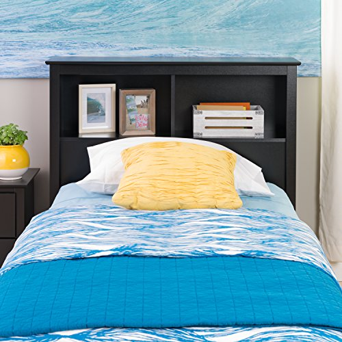 Black Twin Bookcase Headboard (Black Twin Headboard)