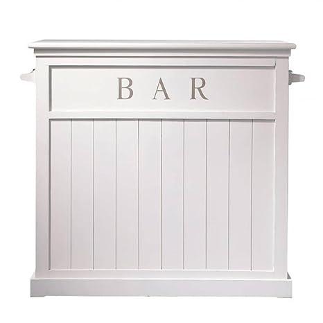 Aprodz Mango Wood Bonner Wine Storage Stylish Counter Bar Cabinet for Living Room | White Finish