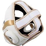 Venum Elite Headgear - White/Gold
