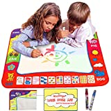 Ehdching Aqua Magic Water Doodle Mat 4 Color Boys Water Magic Drawing Board Kids Educational Toy with 2 Magic Drawing Pens for Girls Toddlers Kids Children 31.5