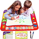 """Aqua Doodle Mat 4 Color Children Water Magic Drawing Book Mat Board & Magic Pen Doodle Kids Educational Toy Gift with 2 Magic Drawing Pens for Boys Girls Toddlers Kids Children 31.5"""" x 23.6"""""""