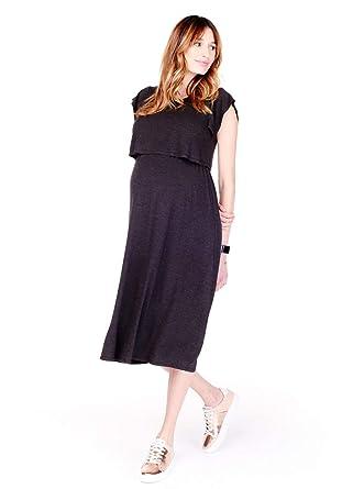 96a5b3c98ea93 Ingrid & Isabel Double Layer Midi Nursing Maternity Dress at Amazon Women's  Clothing store: