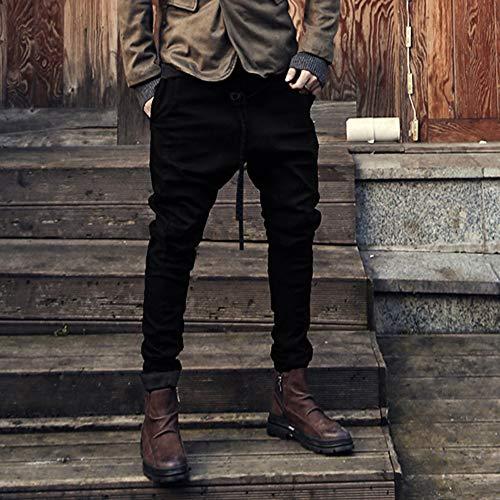 Spbamboo Mens Sweatpants Pockets Fashion Joggers Casual Drawstring Work Trousers by Spbamboo (Image #2)