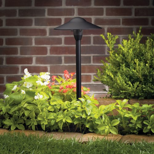 Kichler 15310BKT Path & Spread 1-Light 12V, Textured Black