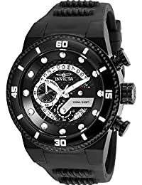 Men's S1 Rally Stainless Steel Quartz Watch with Silicone Strap, Black, 30 (Model: 24228)