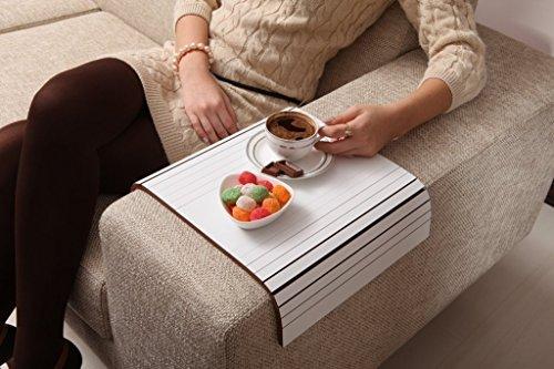 Sofa Tray Table ( White Coffee ), Sofa Arm Tray, Armrest Tray, Sofa Arm Table, Couch Tray, Coffee Table, Sofa Table, Wood Tray