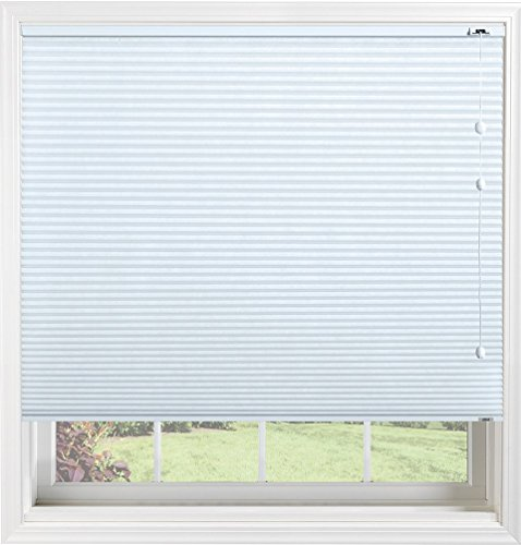 Bali Blinds 3/8'' Custom Light Filtering Cellular Shade with Cord Lift, Spa Blue, 24'' x 32'' by Bali Blinds