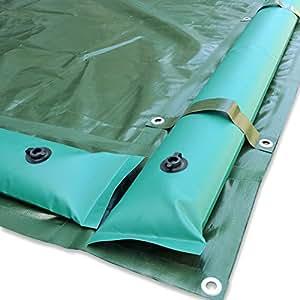 Cubierta de invierno con tubos reforzados y bandas - para piscina 4 x 8 m