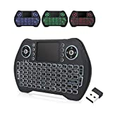 EASYTONE Backlit Mini Wireless Keyboard With