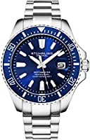 Stuhrling Original Watches for Men - Pro Diver Watch - Sports Watch for Men with Screw Down Crown for 330 Ft. of Water...