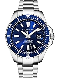 Blue Watches for Men - Pro Diver Sports Watch with Screw...