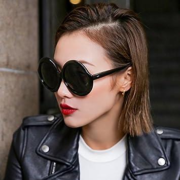 VVIIYJ Gafas de Sol Mujer Grandes Cara Redonda Gafas de Sol ...
