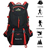 50L Hiking Backpack Climbing Camping Backpack Waterproof Mountaineering Bag Travel Outdoor Sport Pack(45+5) For Sale