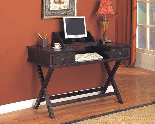 Rich Tobacco Finish Drop Down Home Office Computer Desk