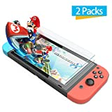 [2 Pack] Nintendo Switch Screen Protector Glass- iXCC 0.3mm Premium High Definition Clear Tempered Glass Screen Protector Film for Nintendo Switch 2017