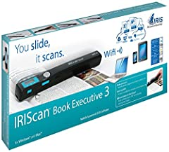 In the Box - IRIScan Book Executive 3 WiFi scanner, Readiris 14 software for PC and Mac on CD-ROM, MicroSD card (including SD card adaptor), USB cable, Transport pouch, Discount voucher for next purchase, Quick user guide, Free 1-year Evernot...