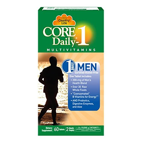 Country Life Core Daily-1 - Dietary Supplement for Men - 60 Tablets, 2 Month Supply