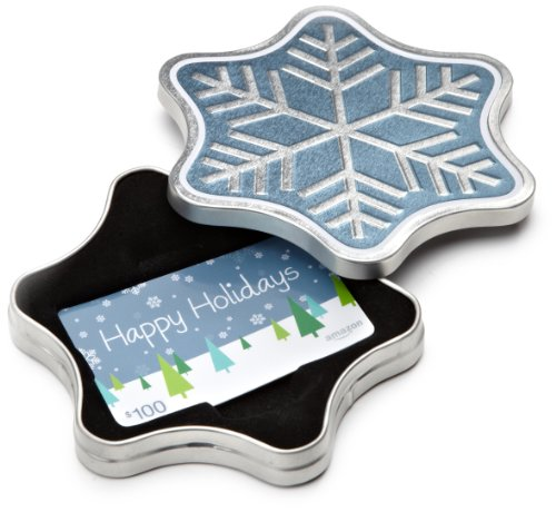 amazoncom-100-gift-card-in-a-snowflake-tin-happy-holidays-card-design